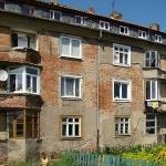 Colour Row Settlement in Chernyakhovks RUSSIA